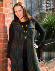 Long Swing Jacket Free knitting patterns