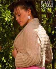 Ribbed Shrug Free knitting patterns