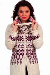 Coatigan and Snood Free knitting patterns