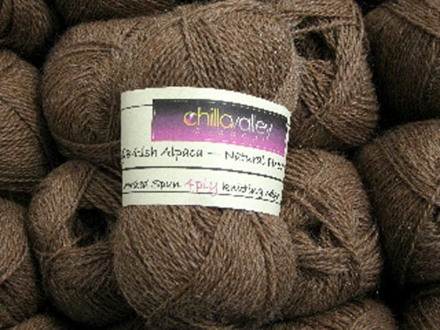 Milk Chocolate Chilla Valley Alpaca yarn