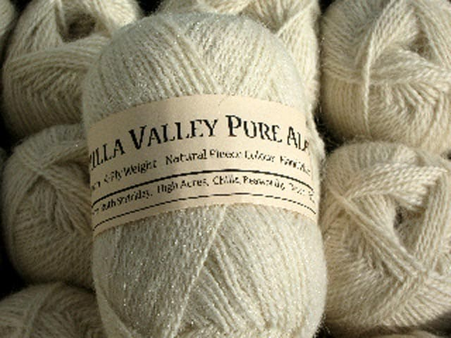 Vanilla Chilla Valley Alpaca yarn