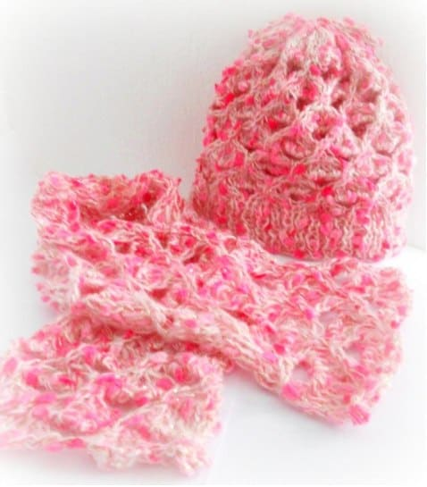 Darling hat and scarf pattern set