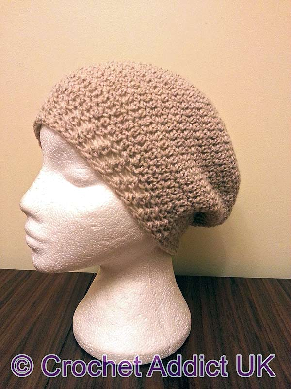 Beautiful Slouchy Hat Free Crochet Pattern designed by the amazing and talented Sue from Crochet Addict UK