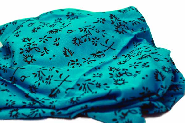 Azure Seas hand printed cotton fabric