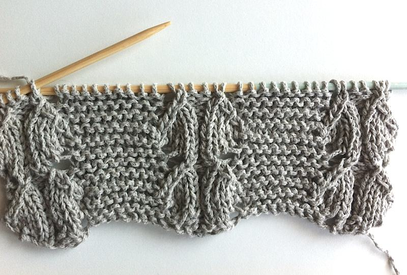 Scallop stitch pattern