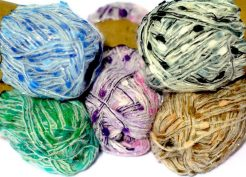 Orient fancy yarn is a gorgeous yarn available in 6 colours each yarn has a sprinkle of stardust