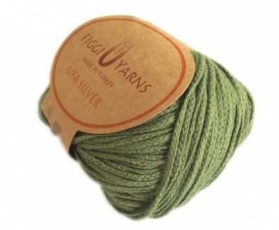 Moss green Sifa Silver Cotton Yarn