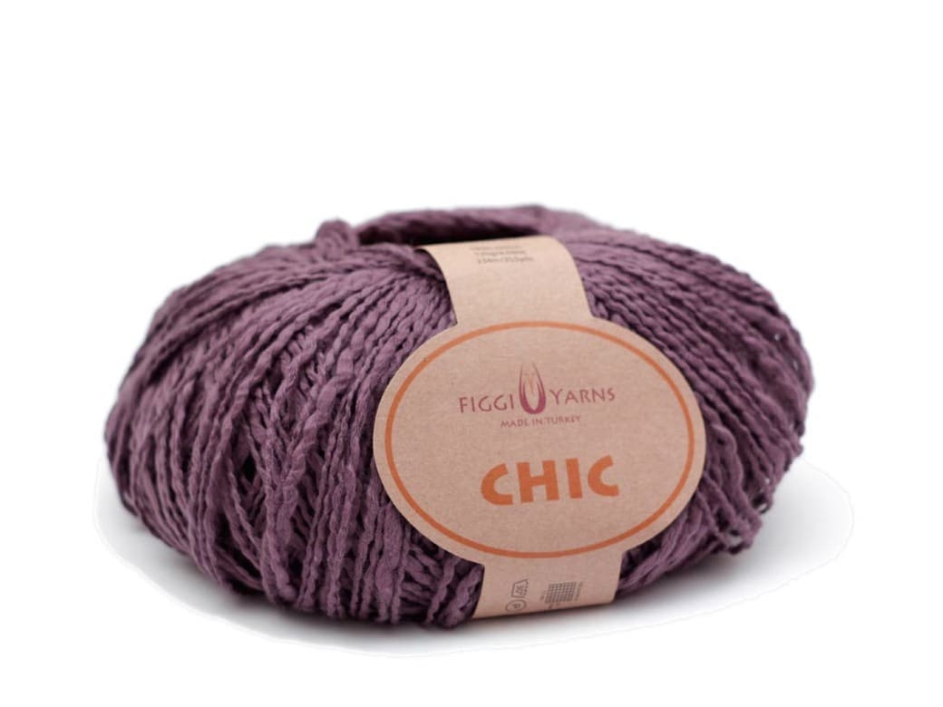 Figgi Yarns Chic Mulberry Cotton Yarn - Darling Mulberry