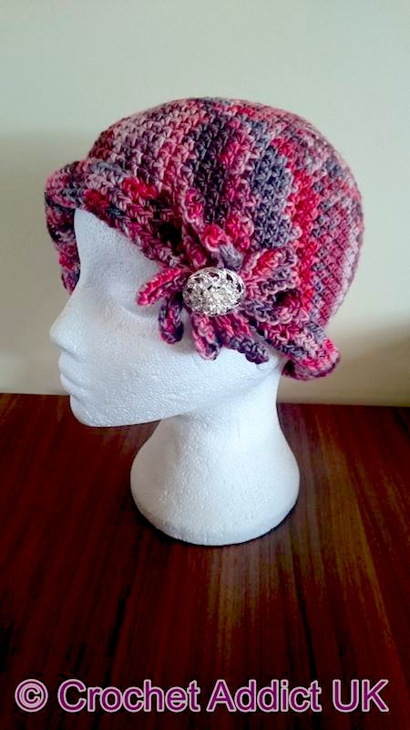 Charlotte Flapper Cloche Hat free pattern at Xena Knits