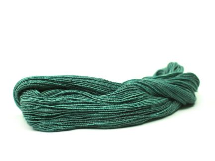 Dancing Jewel Serena Yarn is a beautiful blue / green shade spun in a Pima cotton blend yarn