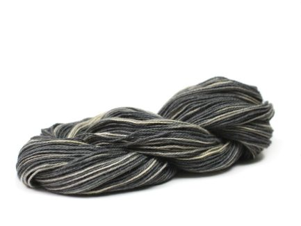 Zebra Serena Yarn is a subtle mix of black, cream and charcoal shades spun in a soft Pima cotton blend yarn