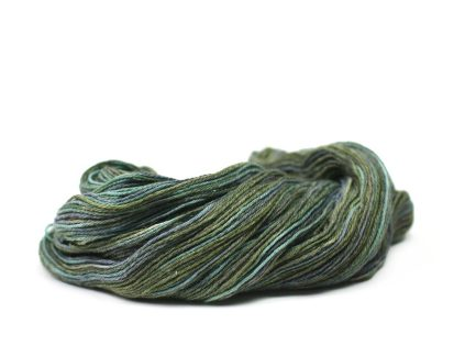Deep sea Serena Yarn is a subtle mix of beautiful shades of the ocean spun in a soft Pima cotton blend yarn