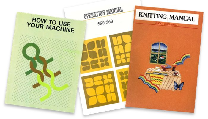 Free Knitting machine and linker manuals